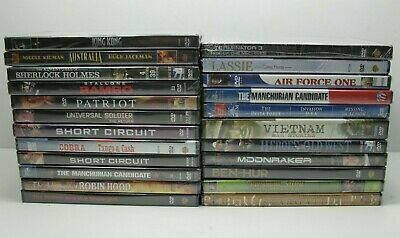 Lot Of 23 New Sealed DVDs Rambo King Kong Moonraker Air Force One Patriot & More