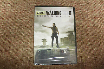 The Walking Dead Season 3 (NEW SEALED DVD 2013 5-Disc Set) Andrew Lincoln