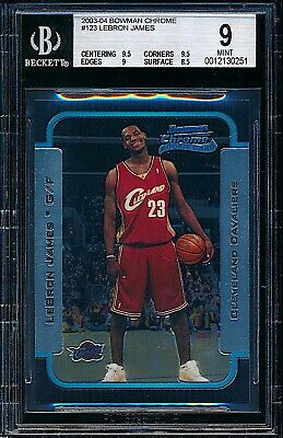 2003-04 Bowman Chrome LeBron James Rookie RC #123 BGS 9 MINT