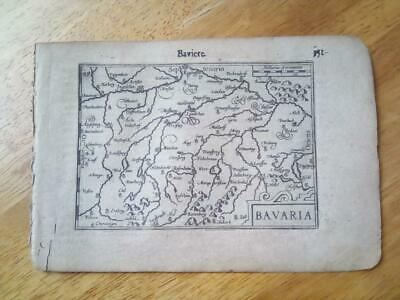 C1600'S Atlas Minor, Mercator Jodocus Hondius Series, Bavaria, In French