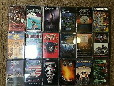 Thrash Heavy Metal Cassette Lot of 18 Different Tapes Exodus Megadeth Maiden