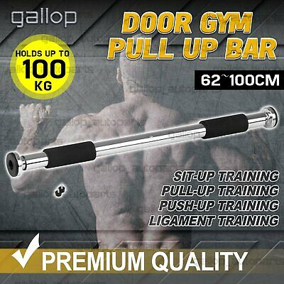 Door Chin Up Bar Portable Pull Up Doorway Home Gym Workout Fitness Abs Exercise
