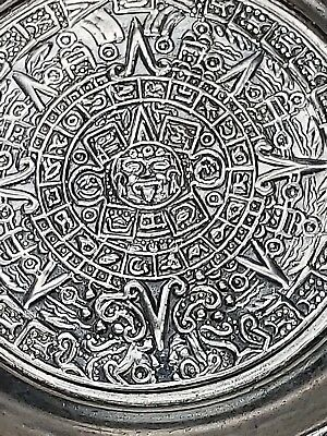 Sterling Silver Aztec Calendar Ashtray