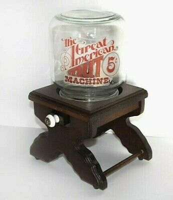 The Great American Nut Machine Vintage Glass/Wood Dispenser Display