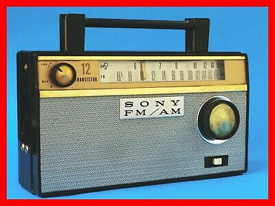 SONY TFM-121  Early Vintage 2 band Radio  - works good  -- RARE