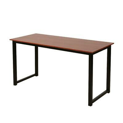 Concise Computer Desk Wood Home Office Workstation Laptop PC Table Brown Color