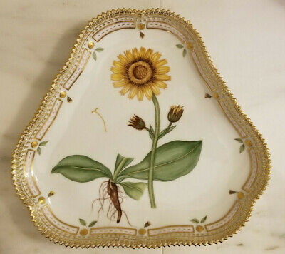 Rare Royal Copenhagen Flora Danica Triangular Serving Dish #3508