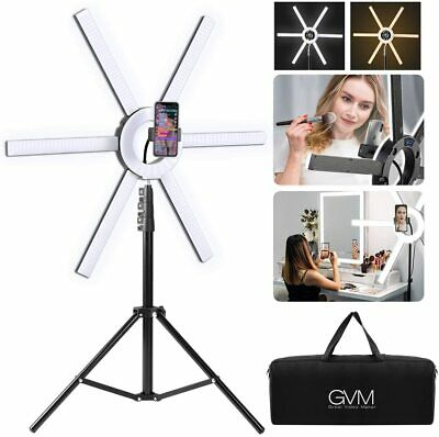 GVM 600S Led Video Lighting Kit, 90W Dimmable Bi-Color LED Ring Light with Stand