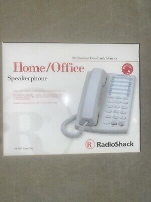 New RadioShack Home/Office Speakerphone 20-Number Memory 43-3601 Brand New