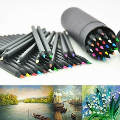 24xColors Oil Art Pencils Sketching Drawing Artist Adult Non-toxic Coloured Gift