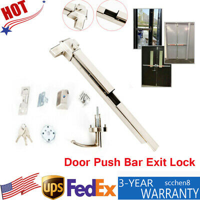 Door Push Bar Panic Exit Device Heavy Duty Commercial Rim Exit Device 70N 960℃