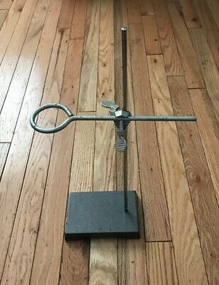 "Ring Stand Lab Support; 17"" Rod, 6"" x 4"" Base With 2 3/4"" Extension Ring"
