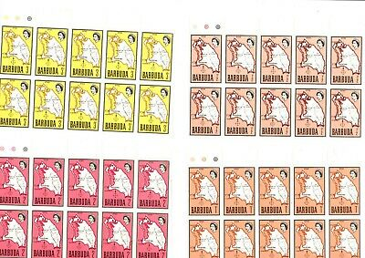 BARBUDA MAP SET IN BLOCKS OF 10 TO 15 cents UNMOUNTED MINT