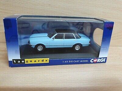 VANGUARDS, FORD CORTINA IV Mk4 GHIA, 1:43 Scale BERMUDA BLUE CORGI CLUB, VA11906