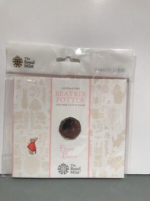 Beatrix Potter Flopsy Bunny 50P Royal Mint Brilliant Uncirculated Coin