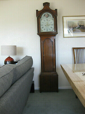Longcase grandfather 8 day East Riding Pagoda Top