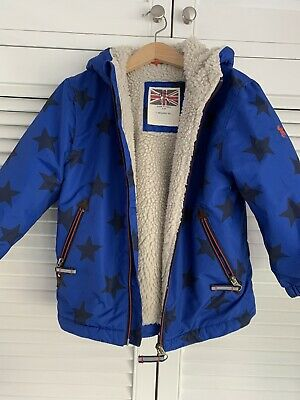 Mini Boden Boys Star Coat Age 3-4