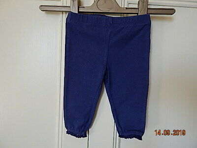 F&F Baby Girls Blue Leggings With Lace To Ankles Up To 3 Months