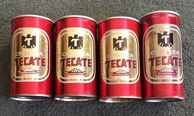 TECATE CERVEZA 4 Different Vintage Beer Cans Mexico