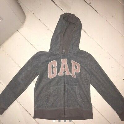 GAP pink and grey sparkly logo zip up hoodie. Kids age 10, uk 4/6.