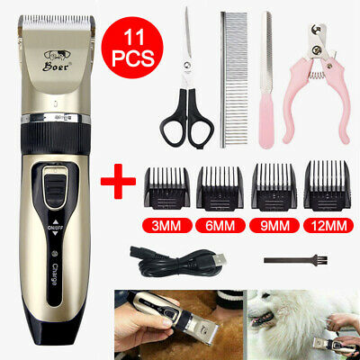 Professional Cordless Low Noise Grooming Trimmer Hair Electric Shaver & 4 Comb