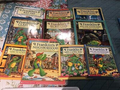 Lot of 12 Franklin the Turtle Paulette Bourgeois Children's Books GREAT LOT