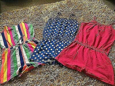 3 X Girls Playsuits Age 7-8 Years