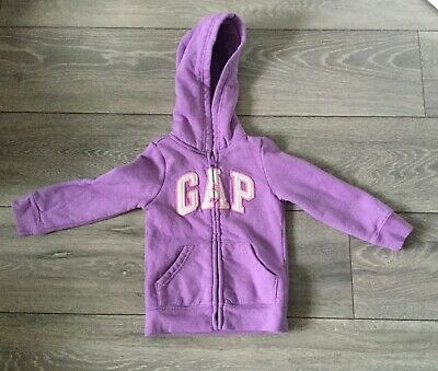 Girl's Purple Hooded Sweatshirt/Hoodie (2 years) GAP