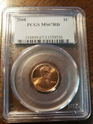 2008 Lincoln Cent Pcgs Ms67 Rd