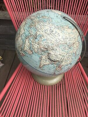 "Rand McNally World Political 12"" Vintage GLOBE Spins With Stand"