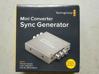 Blackmagic Design Mini Converter Sync Generator with 6 Outputs + Power Supply