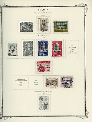 BOLIVIA Scott Specialty Album Page Lot #29 - SEE SCAN - $$$