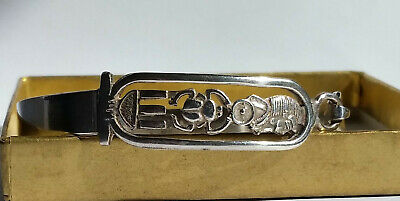 VINTAGE SILVER EGYPTIAN DESIGN BANGLE - 17.9g