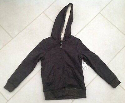Brand New Girls Black & Gold Sparkle Hooded Fleece Jacket Aged 7-8 Years