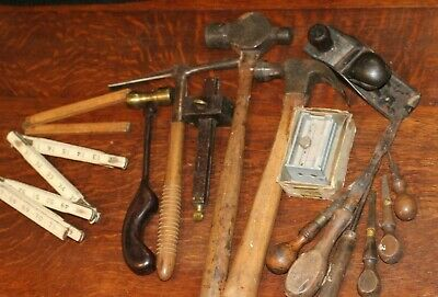 Antique 15 PIECE Tool LOT, ~ Miller Falls ~ Stanley ~ as well as other makers