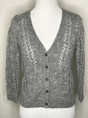 Abercrombie Kids Girls Gray Cardigan Sweater XS 16'' Chest Youth Size Wool Blend
