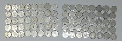 Lot Of 80 Canada Silver Dimes 10 Cents 80% Silver Very Good Condition