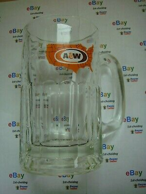 "1972's ""12 Ounce"" Vintage ""A&W"" w/USA Map Logo Root Beer Glass Mug ~ 5-3/4"" Tall"