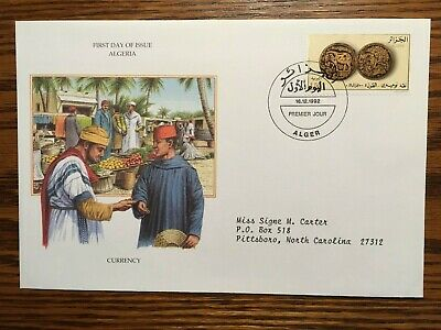 Algeria #972 Coins Issue on First Day Cover