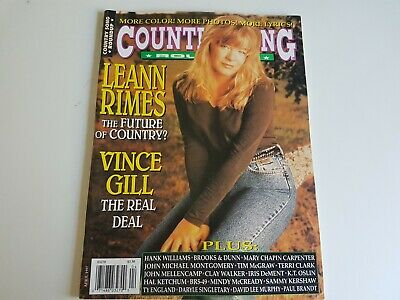 Country Song Roundup Music Magazine Vtg 1990s Leann Rimes Vince Gill Clay Walker