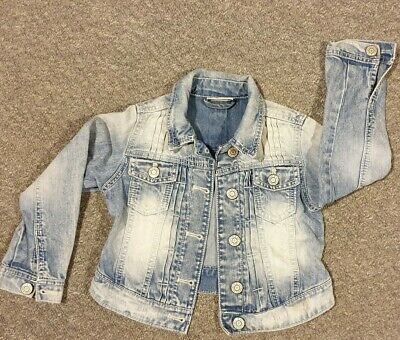 NEXT Girls Denim Jacket Age 5-6yrs VGC
