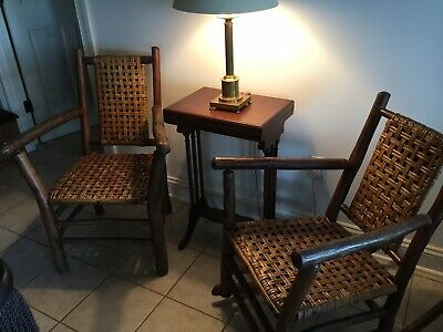 Old Hickory Style Adirondack Chair And Rocker, Vintage Excellent