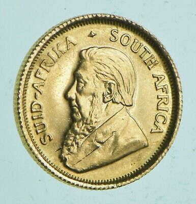 1980 South Africa 1/10 Oz. Gold Krugerrand - Charles Coin Collection *002