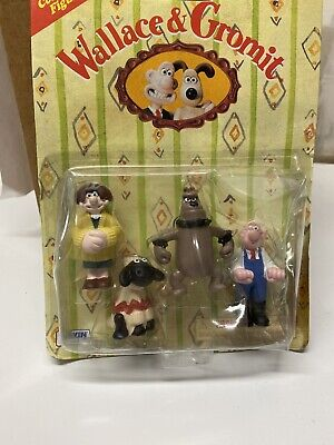 Vintage Wallace & Gromit Action Figures Shaun Sheep 1989 Unopened A Close Shave