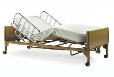 Invacare Full Electric Hospital Bed Package Mattress and Rails Unused