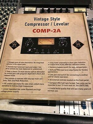 Golden Age Comp2A VINTAGE-Style Tube Compressor Limiting Amplifier - LA-2A  NEW!