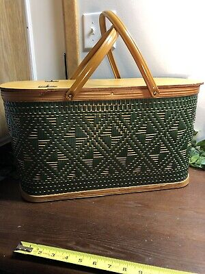Vintage Retro Hawkeye Picnic Basket Excellent Condition Large