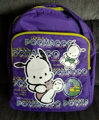 Vintage Pochacco Dog Backpack Sanrio Rare - Purple 1997