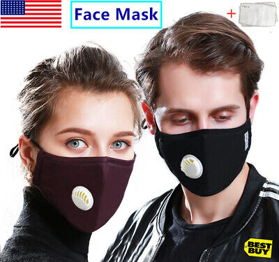Anti Air Pollution Face Mask Protective Cover Shield With 2 Filters Mouth Masks