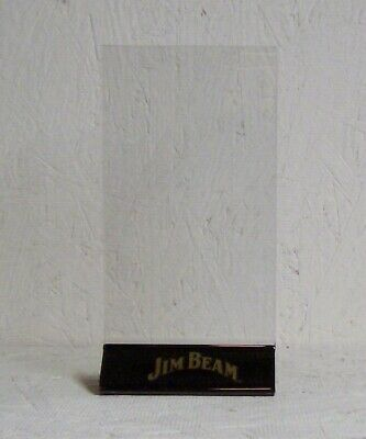 """Jim Beam Acrylic Plastic Table Top Tent Sign Holder (Never Used) 